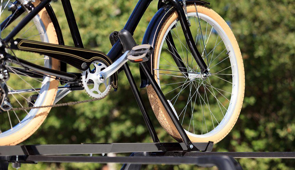 fiets op bagagedrager